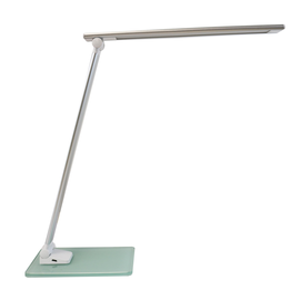 Tischleuchte LED POPY mit Glasfuß dimmbar weiß Unilux 400124478 Produktbild