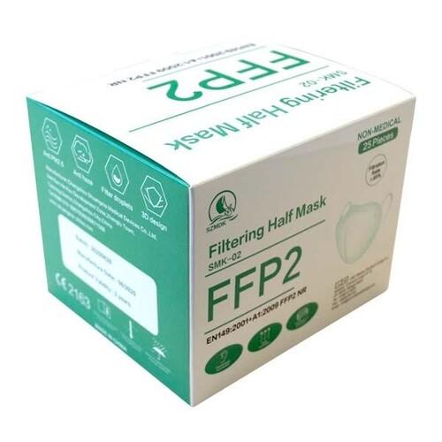 Mund- und Nasenmaske FFP2 NR CE2163 / EN149:2001+A1:2009 Produktbild Additional View 1 L