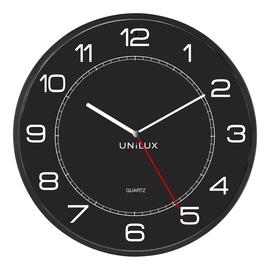 Wanduhr MEGA Quarzuhr Ø 57,5cm Kunststoff schwarz Unilux inklusive 1x AA Batterie 400094568 Produktbild