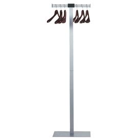 Garderobenständer SPIRIT inklusive 6 Bügeln Höhe 175cm metallgrau Unilux 100340626 Produktbild