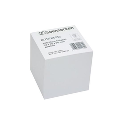 Zettelklotz geleimt 9x9x9cm 800BL weiß Papier Soennecken 5803 Produktbild