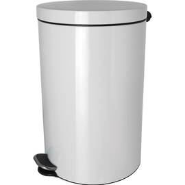 Tretabfallbehälter Silberionen the knight 3L Stahl weiß Helit H2404005 Produktbild