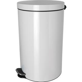 Tretabfallbehälter Silberionen the knight 20L Stahl weiß Helit H2404205 Produktbild