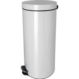 Tretabfallbehälter Silberionen the knight 30L Stahl weiß Helit H2404305 Produktbild