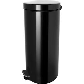 Tretabfallbehälter Silberionen the knight 30L Stahl schwarz Helit H2404395 Produktbild