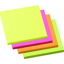 Haftnotizen 75x75mm neonfarben Papier BestStandard (PACK=4x 100 BLATT) Produktbild