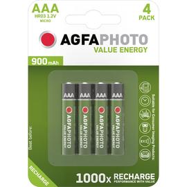 Akku Micro AAA NiMH 1,2V 900mAh AgfaPhoto HR03 (PACK=4 STÜCK) Produktbild