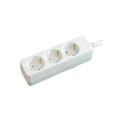 Steckdosenleiste 3-fach 1,4m Kabel weiß ohne Schalter BAT 1150620015 Produktbild