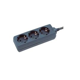 Steckdosenleiste 3-fach 1,4m Kabel schwarz ohne Schalter BAT 1150600015 Produktbild