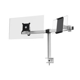 Monitorarm für 1 Monitor und 1 Tablet mit Tischklemme silber Durable 5087-23 Produktbild