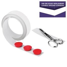 Magnetband 5m x 35mm weiß selbstklebend Magnetoplan 5705105 Produktbild