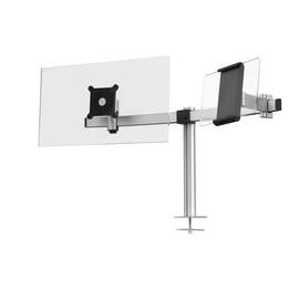 Monitorarm für 1 Monitor und 1 Tablet mit Tischhalterung silber Durable 5088-23 Produktbild