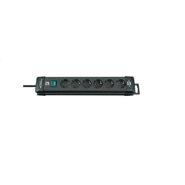 Steckdosenleiste Premium-Line 6-fach schwarz mit Schalter Brennenstuhl mit 3m Kabel 795003000 Produktbild