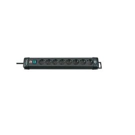 Steckdosenleiste Premium Line 8-fach schwarz mit Schalter Brennenstuhl mit 3m Kabel 795003100 Produktbild