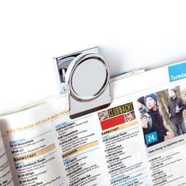 Magnetclip 3,5x3,5cm 130g Haftkraft silber Magnetoplan 16670 (PACK=3 STÜCK) Produktbild