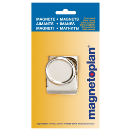 Magnetclip 5x5cm 130g Haftkraft silber Magnetoplan 16669 Produktbild