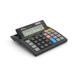 Tischrechner 12-stelliges LC-Display Solar-/Batteriebetrieb Twen J-1200 145x144x25mm Produktbild