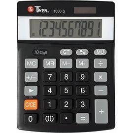 Tischrechner 10-stelliges Display Solar-/Batteriebetrieb Twen 1030 S 136x104x29mm Produktbild
