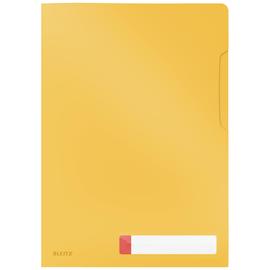 Sichthülle Cosy Privacy A4 gelb 200µ PP genarbt Leitz 4708-00-19 oben + rechts offen (PACK=3 STÜCK) Produktbild