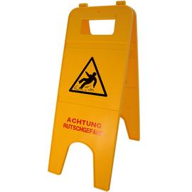 Warnschild Achtung Rutschgefahr 57cm 2teilig gelb Produktbild