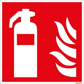 Hinweisschild Feuerlöscher 15x15cm Hart-PVC Produktbild