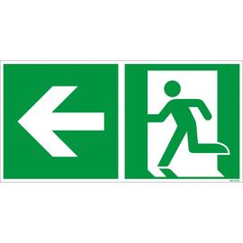 Hinweisschild Rettungsweg links 30x15cm Hart-PVC Produktbild