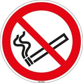 Hinweisschild Rauchen verboten Durchmesser 10cm sk Folie Produktbild