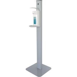 Desinfektionsmittelspender auf Säule inklusive Leerflasche mittelgrau Helit H6817087 Produktbild