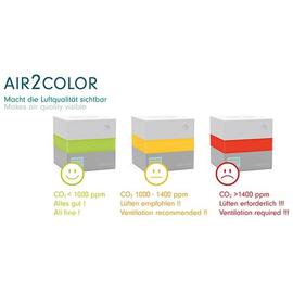 Kohlendioxid CO2 Sensor AIR2COLOR bis 80m² Renz 4798000260, 10x10x10cm inklusive Netzteil Produktbild