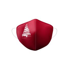 Stoffmaske Weihnachten Motiv Tannenbaum weinrot Produktbild