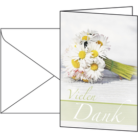 Glückwunsch-Karten inkl. Umschläge 115x170mm 220g Vielen Dank Sigel DS046 (PACK= JE 10 STÜCK) Produktbild