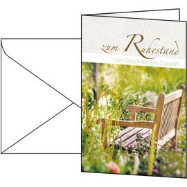 Glückwunsch-Karten inkl. Umschläge 115x170mm 220g Zum Ruhestand Sigel DS044 (PACK= JE 10 STÜCK) Produktbild