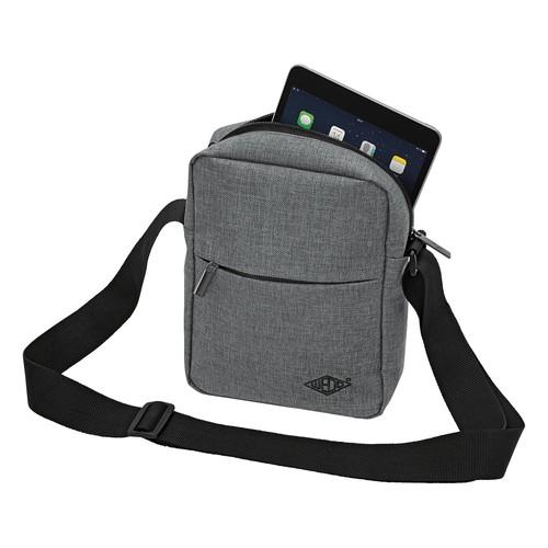 Umhängetasche Messenger Bag College 40x10x30cm grau Wedo 59350512 Produktbild Additional View 2 L
