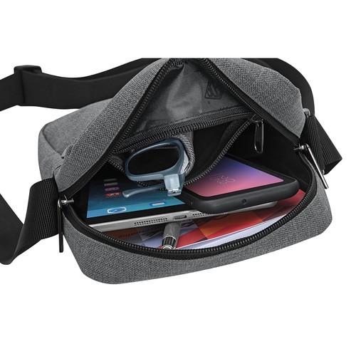 Umhängetasche Messenger Bag College 40x10x30cm grau Wedo 59350512 Produktbild Additional View 3 L