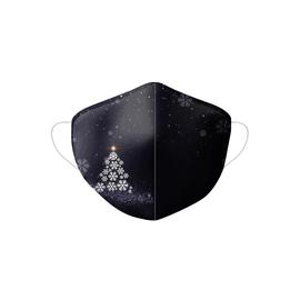 Stoffmaske Weihnachten Motiv Tannennbaum schwarz Produktbild