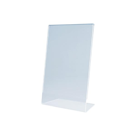 Tischaufsteller schräg für einseitige Präsentation A4 glasklar Acryl Magnetoplan 43103 Produktbild