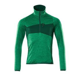 Fleecepullover mit kurzem Reißverschluss Microfleecejacke / Gr. L, Grasgrün/Grün Produktbild