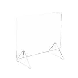 Hygieneschutzwand 58x85cm bzw. 75x68cm Steckvariante m.Füße Kunststoff transp. Produktbild