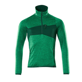 Fleecepullover mit kurzem Reißverschluss Microfleecejacke / Gr. 4XL, Grasgrün/Grün Produktbild