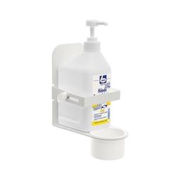 Desinfektionsmittelhalter weiß für Flaschen 500 / 1.000ml 10,2x6,5 bis 10,2cm, Wedo 105 31000 Produktbild