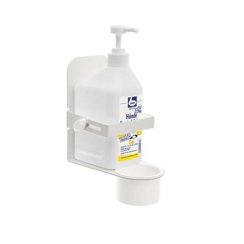 Ständer für Desinfektionsmittelhalter mit Sockel 100cm, Ø 25cm weiß Wedo 105 30000 Produktbild Additional View 3 L
