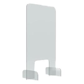 Hygieneschutzwand 50x85cm Durchreiche 25x20cm Tiefe Füße 24,6cm Magnetoplan 1102750 Produktbild