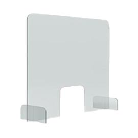 Hygieneschutzwand 85x70cm Durchreiche 25x20cm Tiefe Füße 24,6cm Magnetoplan 1102785 Produktbild