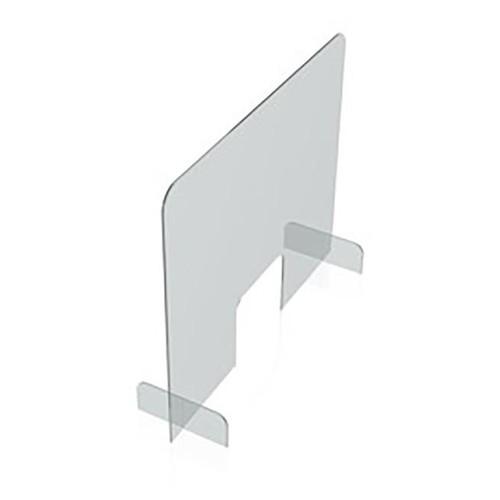Hygieneschutzwand 85x70cm Durchreiche 25x20cm Tiefe Füße 24,6cm Magnetoplan 1102785 Produktbild Additional View 1 L