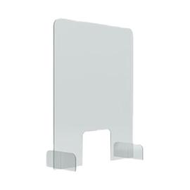 Hygieneschutzwand 70x85cm Durchreiche 25x20cm Tiefe Füße 24,6cm Magnetoplan 1102770 Produktbild