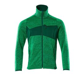 Strickpullover mit Reißverschluss  Strickjacke / Gr. XL, Grasgrün/Grün Produktbild