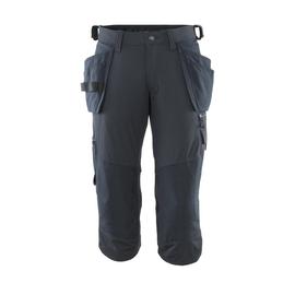 Dreiviertel-Hose, Hängetaschen, Stretch  Handwerker-Dreiviertel-Hose / Gr. C60,  Schwarzblau Produktbild