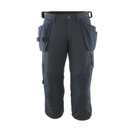 Dreiviertel-Hose, Hängetaschen, Stretch  Handwerker-Dreiviertel-Hose / Gr. C51,  Schwarzblau Produktbild