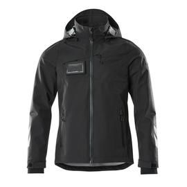 Hard Shell Jacke, wasserdicht / Gr. XL,  Schwarz Produktbild