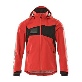 Hard Shell Jacke, wasserdicht / Gr. XL,  Verkehrsrot/Schwarz Produktbild